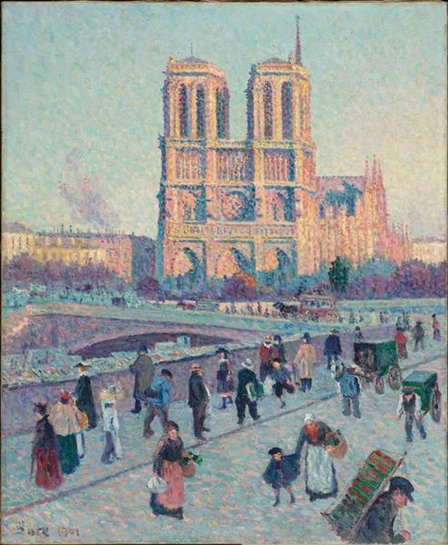 Maximilien Luce. El moll de Saint-Michel i Notre-Dame, 1901