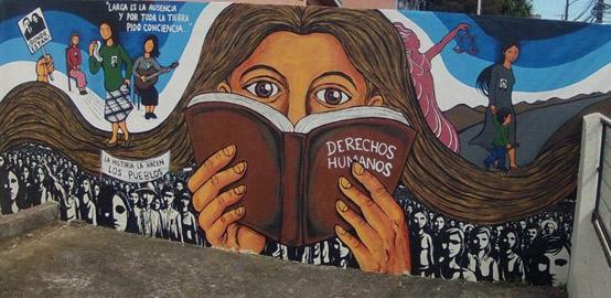 Mural de Valdivia (del Colectivo Muralista El Caracol)