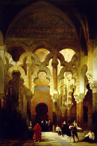 D. Roberts. Interior de la Mezquita de Córdoba, 1838