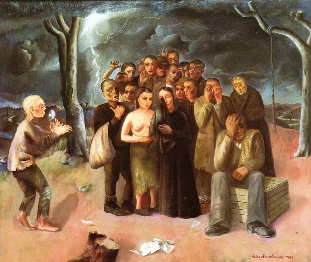 Felix Nussbaum. La Tempesta, 1941