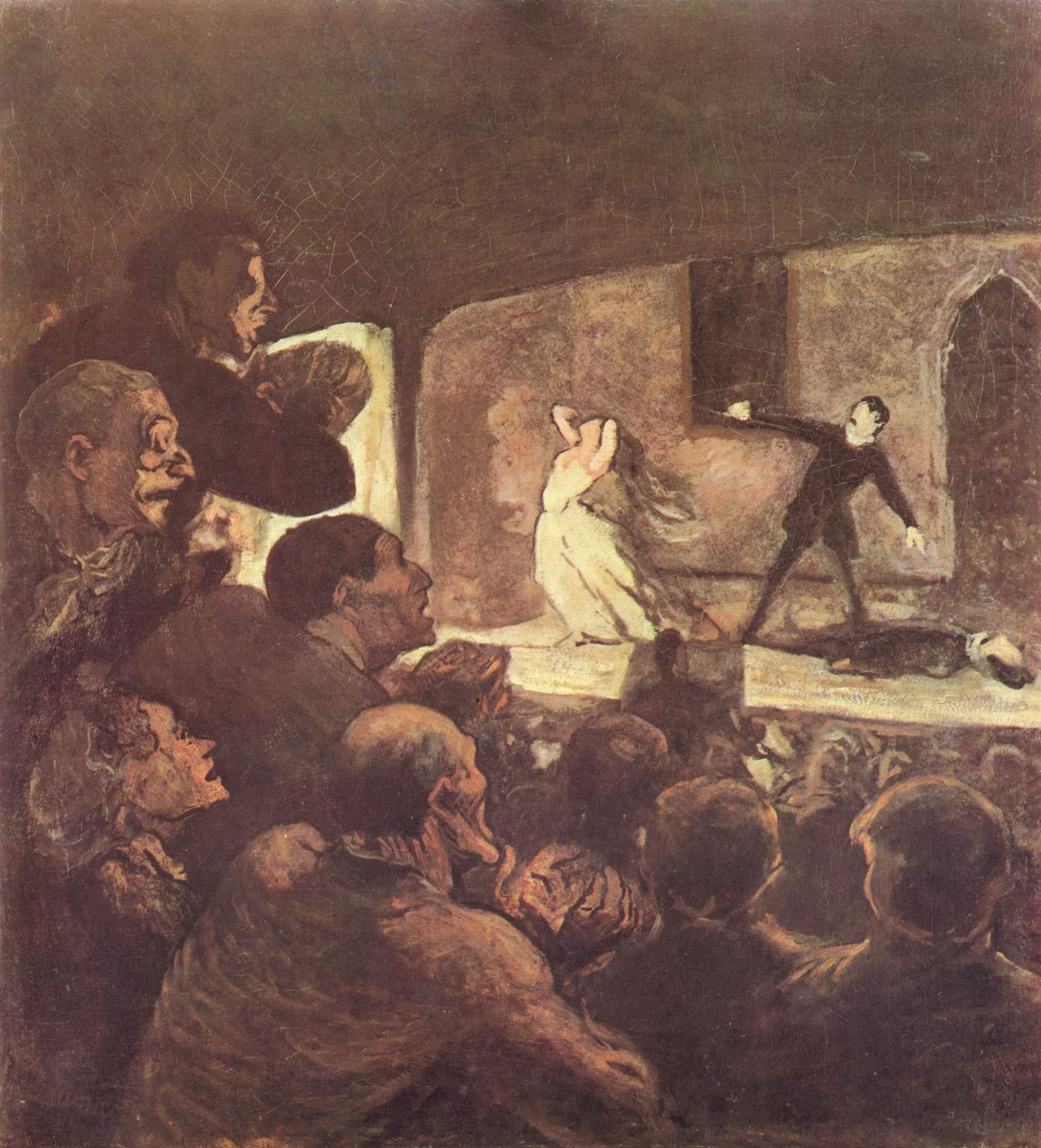 H.Daumier. El melodrama, 1860.