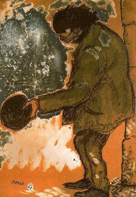 Isidre Nonell. Demanant caritat, 1909.