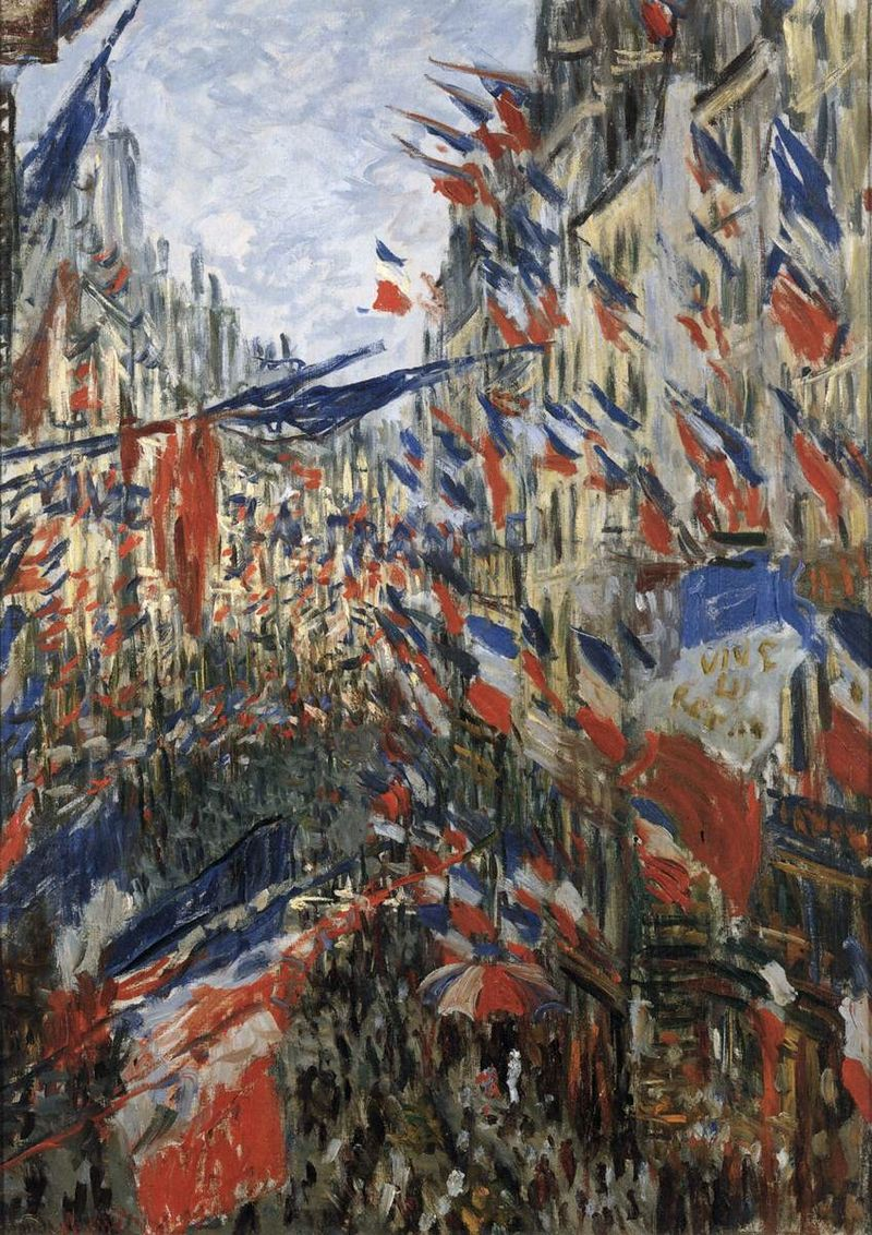 Claude Monet. Carrer amb banderes, 1878.
