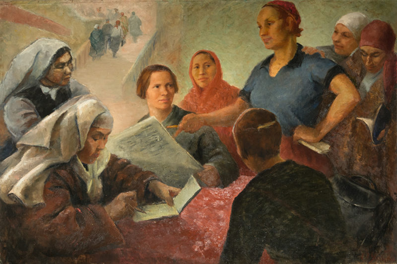 Olga Yanovskaya. Delegadas del VI Congreso, 1932.
