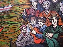 Mural en homenaje a los inmigrantes en Carmelo, Colonia del Sacramento, Uruguay.