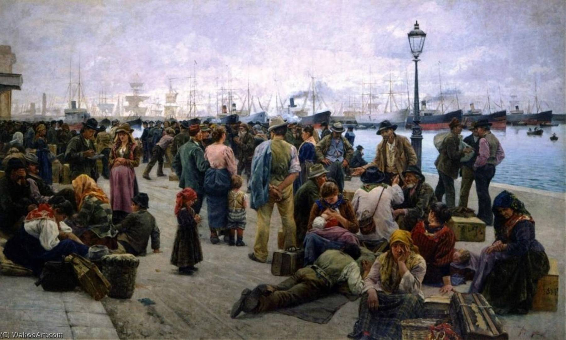A. Tommasi. Els emigrants, 1896