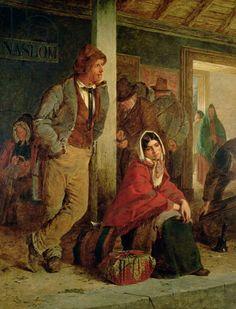 Erskine Nicol. Els immigrants, 1864