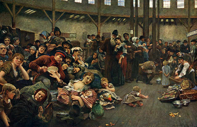 Hubert von Herkomer. La migració humana, 1884
