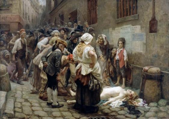 Léon Maxime Faivre. La mort de la princesa Lamballe, 1908