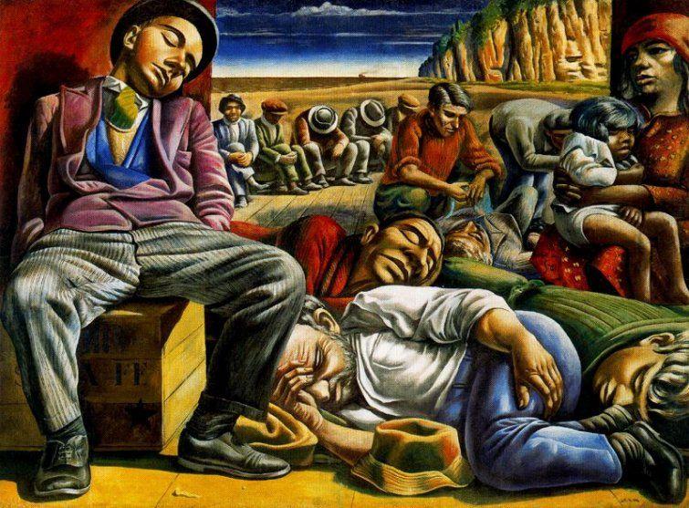 Antonio Berni. Desocupats, 1934.