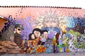 Mural en el Centro de Derechos Humanos Fray Matías de Córdova a la ciudad de Tapachula, Chiapas.