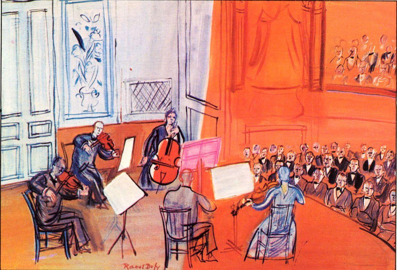 R. Dufy. El concert taronja, 1948.