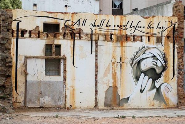 Mural a Ciutat del Cap, Sudàfrica.
