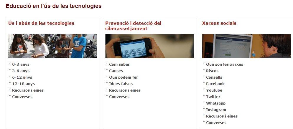 EDUCACIÓ EN L US DE LES TECNOLOGIES