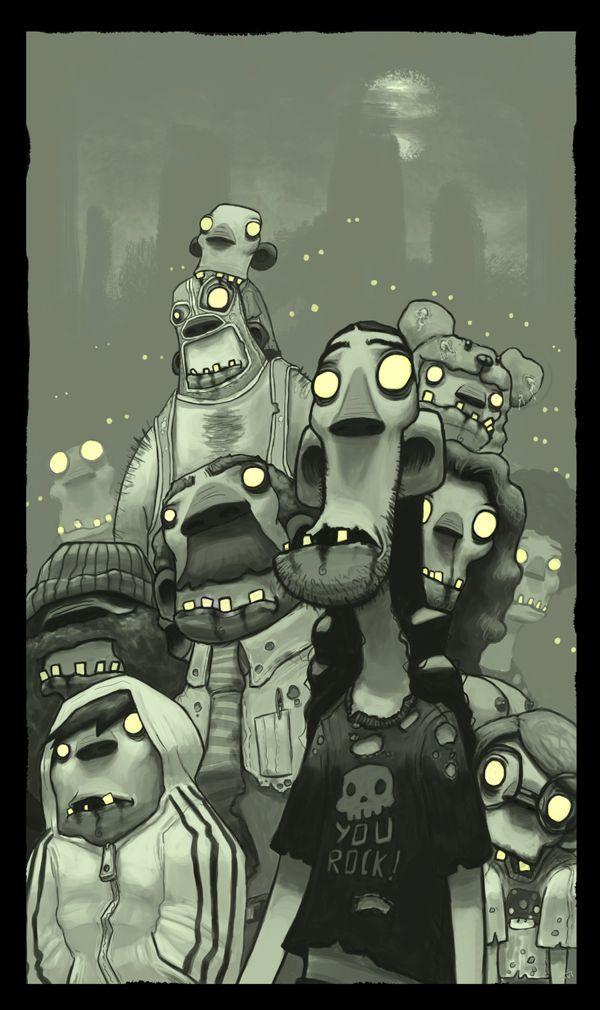Zombis Illustration por Arthur Mask