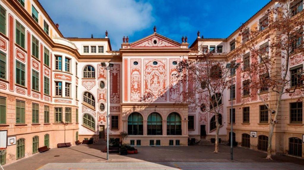 Pati de l'Escola Milà i Fontanals