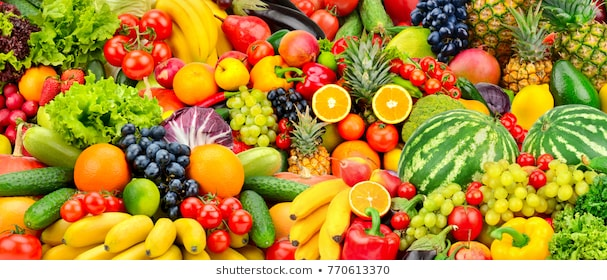 Review fruits and vegetables vocabulary