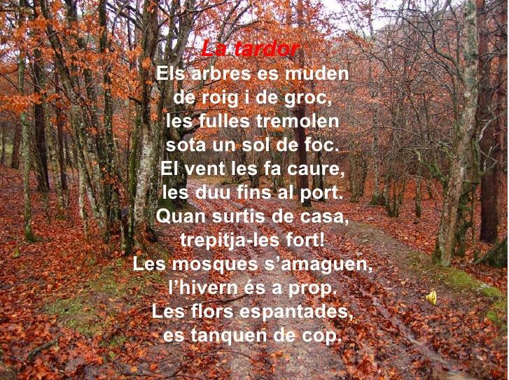 Poema de la tardor