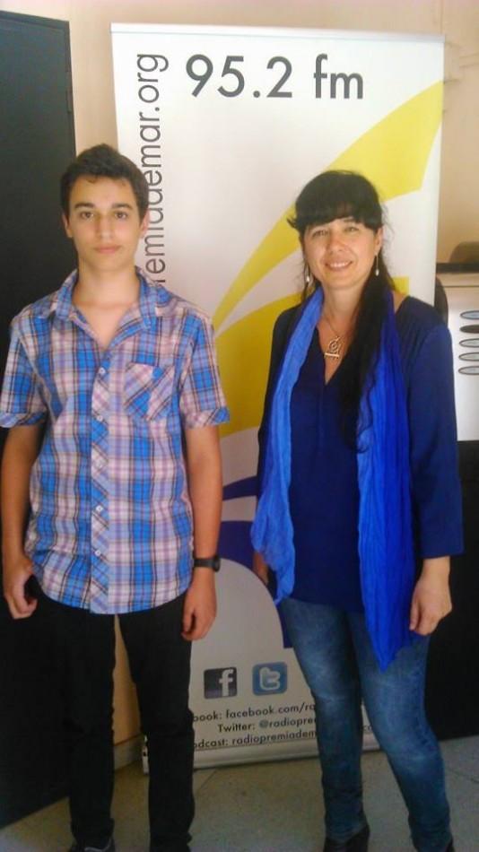 L'Arnau Lario i la Margalida Capellà a Ràdio Premià de Mar