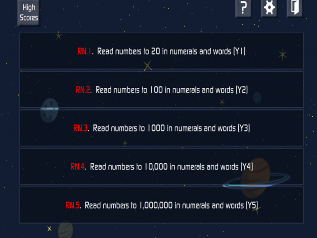 Read these numbers