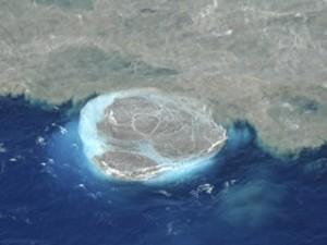Imatge de l'erupció submarina al sud de l'illa d'El Hierro (Foto: EFE)