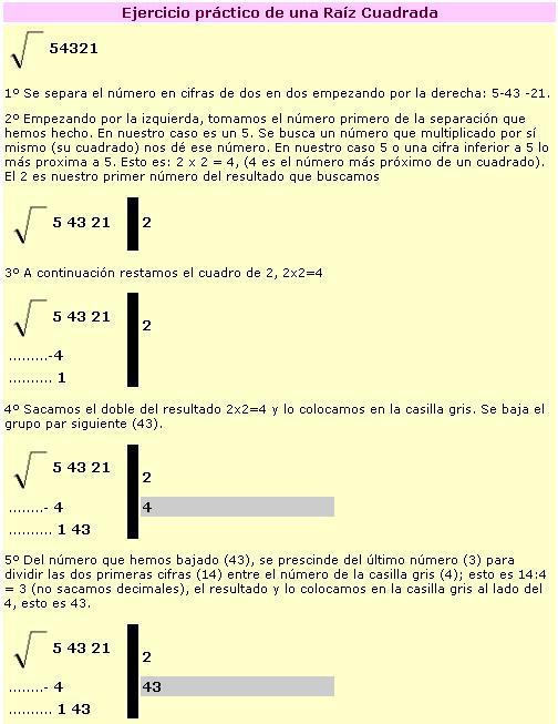 Arrel quadrada1