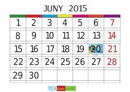 juny calendari