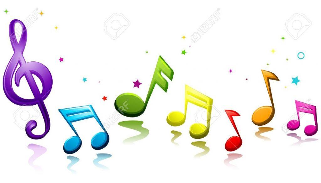 8068947-arco-iris-coloreado-notas-musicales-contra-el-fondo-blanco-foto-de-archivo