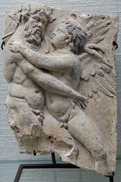 Escena mitològica d'Eros i Silè.