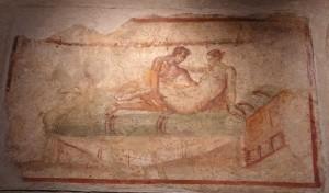 Pintura al Lupanar de Pompeia