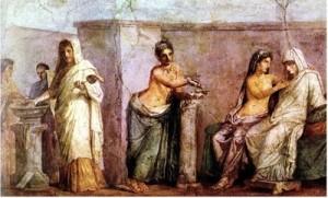 Cerimonia d'un matrimoni romà.