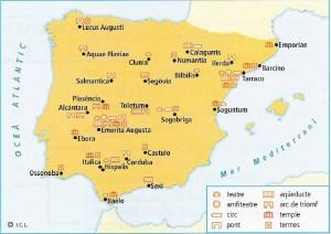 Principals restes romanes a Hispània