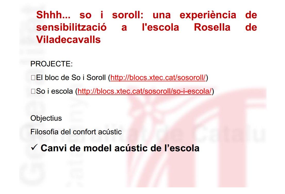 Jornada sobre contaminació acústica Sabadell