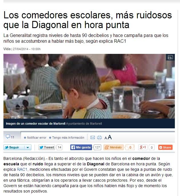 Notícia menjadors escolars