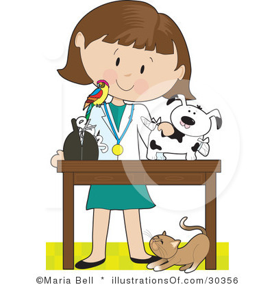 Clipart Girl With Cat