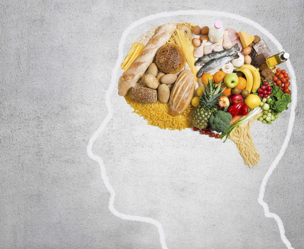 Food in shape of a brain