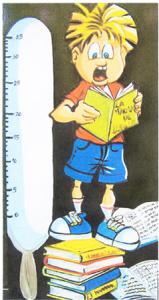 Dibuix de Toni Òrtiz per a la Biblioteca de l'escola.