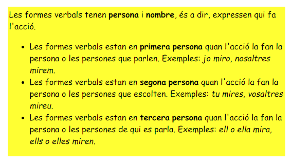 formes personals