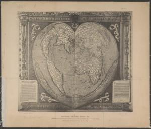 Mapamundi cordiforme d'Oronce Fine 1534