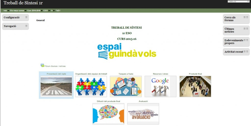 MOODLE ESPAI GUINDAVOLS