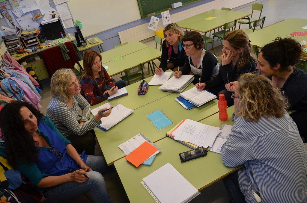Equip d'educació infantil de l'escola de Jungfrau de Badalona.