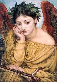 Erato, musa de la poesía. Obra de Sir Edward John Poynter