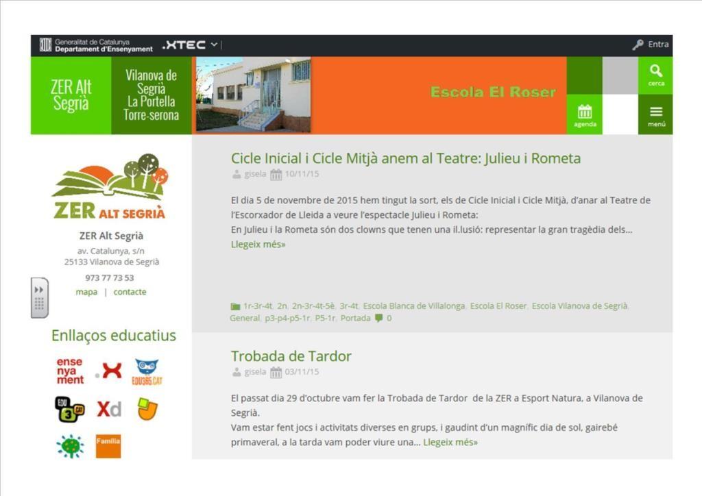 pàgina web nova
